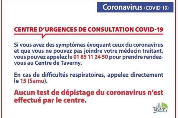 Centre d'urgence Covid-19 à Taverny