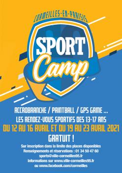 Affiche sport camp avril 2021