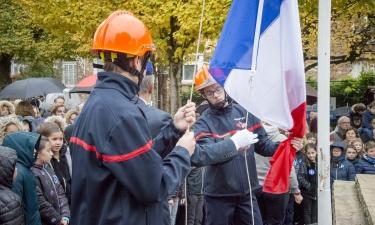 Cérémonie du 11 novembre 2018 - lever de drapeaux