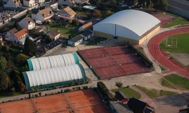 Vue aérienne des équipements sportifs