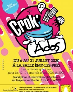 Crok'Ados 13-14 ans Juillet 2020