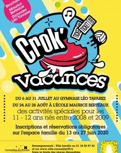 Crok'Vacances 11-12 ans Juillet-août 2020