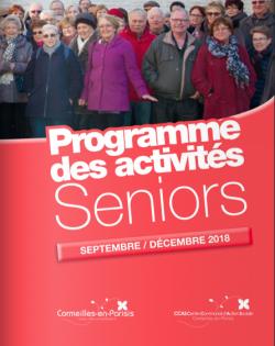 Couverture du programme des activités séniors automne 2018