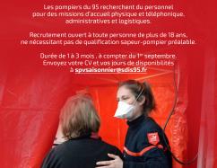 Recrutement pour le centre de vaccination du SDIS 95