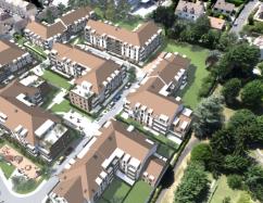 Vue aérienne du projet du Clos Compan