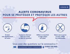 Coronavirus : Adoptez les gestes barrières