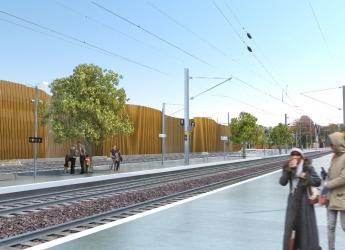 Le futur parc relais depuis la gare