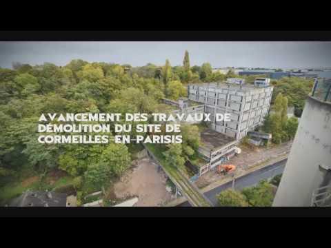 Vidéo de la réhabilitation du site de l'ancienne cimenterie Lafarge